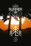 Summer holidays poster. Vector typography design on sunset background. Eps 10. Summer holidays poster. Vector typography design on sunset background Royalty Free Stock Photo