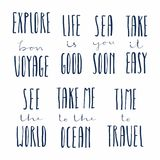 Summer Holidays Quotes Set Royalty Free Stock Photography