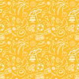 Summer holidays seamless pattern Stock Image