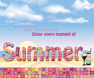 Summer holidays seaside background. Stock Photography