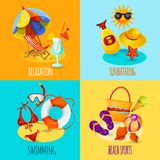 Summer Holidays Set Royalty Free Stock Photography