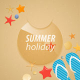 Summer holidays sticker. Stock Photos