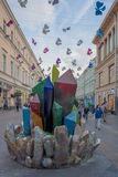 Summer holidays in the streets of the center of Moscow Stock Photos