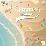 Summer holidays template. plus EPS10 vector file Royalty Free Stock Photography