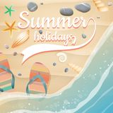 Summer holidays template. plus EPS10 vector file Royalty Free Stock Photo