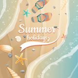 Summer holidays template. plus EPS10 vector file Royalty Free Stock Photos