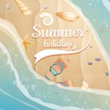 Summer holidays template. plus EPS10 vector file Royalty Free Stock Images