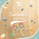 Summer holidays template. plus EPS10 vector file Royalty Free Stock Image