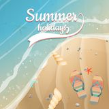 Summer holidays template. plus EPS10 vector file Stock Image