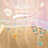 Summer holidays template. plus EPS10 vector file Stock Photography