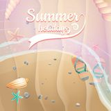 Summer holidays template. plus EPS10 vector file Stock Photo