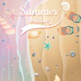 Summer holidays template. plus EPS10 vector file Stock Photos