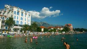 Summer holidays at Tivat, Montenegro Stock Photos