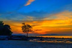 Tropical beach at sunset. Summer holidays travel Tropical beach at sunset stock photos