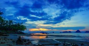 Tropical beach at sunset. Summer holidays travel Tropical beach at sunset stock photography