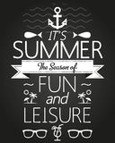 Summer Holidays and Travel Typographic Greeting Card Stock Photos