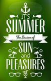 Summer Holidays and Travel Typographic Greeting Card Stock Images