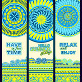 Summer holidays. Tribal ethnic banners. Royalty Free Stock Image