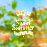 Summer holidays type design Royalty Free Stock Photos