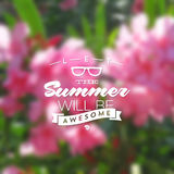 Summer holidays type design Stock Image