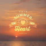 Summer Holidays Type design Stock Images