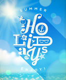 Summer holidays type design Stock Photography