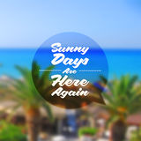 Summer holidays type design Royalty Free Stock Photography