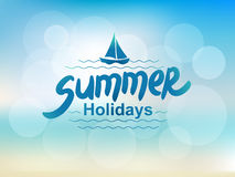 Summer holidays - typographic design Royalty Free Stock Photos