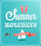 Summer Holidays typographic design. Royalty Free Stock Photo