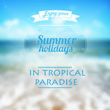 Summer holidays typography background. Beautiful s Stock Photo