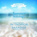 Summer holidays typography background. Beautiful s Stock Photo