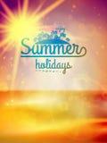 Summer holidays typography background. Stock Image