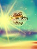 Summer holidays typography background. Royalty Free Stock Image