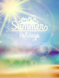 Summer holidays typography background. Stock Images