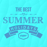 Summer holidays typography Stock Image
