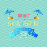 Summer holidays typography Royalty Free Stock Photography