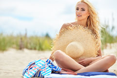 Summer holidays, vacation and beach concept Royalty Free Stock Image