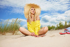 Summer holidays, vacation and beach concept Stock Photography