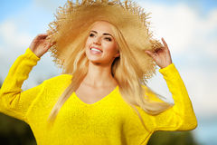 Summer holidays and vacation concept, girl . Royalty Free Stock Images