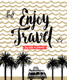 Summer holidays and vacation hand drawn illustration Stock Photography