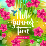 Summer holidays and vacation illustration Stock Photography