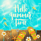 Summer holidays and vacation illustration Stock Image