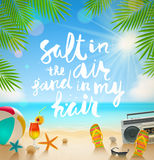 Summer holidays and vacation illustration Royalty Free Stock Photos