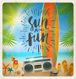 Summer holidays and vacation illustration Stock Photo