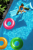 Summer Holidays Vacation. Summertime. Float Rings, Mattress Float Stock Photography