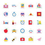Summer and Holidays Vector Icons 7 Royalty Free Stock Photos