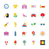 Summer and Holidays Vector Icons 4 Royalty Free Stock Images