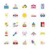 Summer and Holidays Vector Icons 12 Royalty Free Stock Image