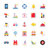Summer and Holidays Vector Icons 19 Stock Photos