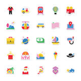 Summer and Holidays Vector Icons 10 Royalty Free Stock Photo